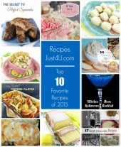 Top 10 Most Popular recipes. These 10 recipes and party tip posts are the most popular ones at Recipes Just 4u in 2015