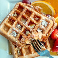 These strawberry Belgian waffles makes a wonderful choice for a weekend breakfast or brunch. They are light and fluffy with deep craters for the maple syrup. recipesjust4u.com