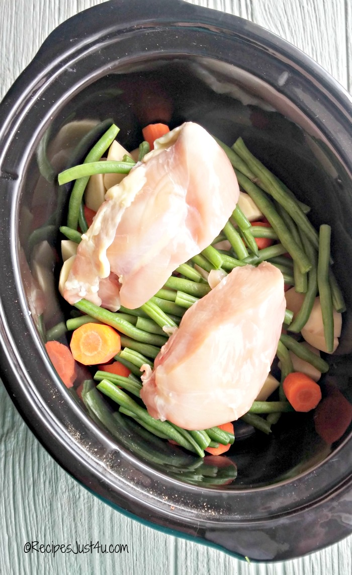 add chicken to the crock pot