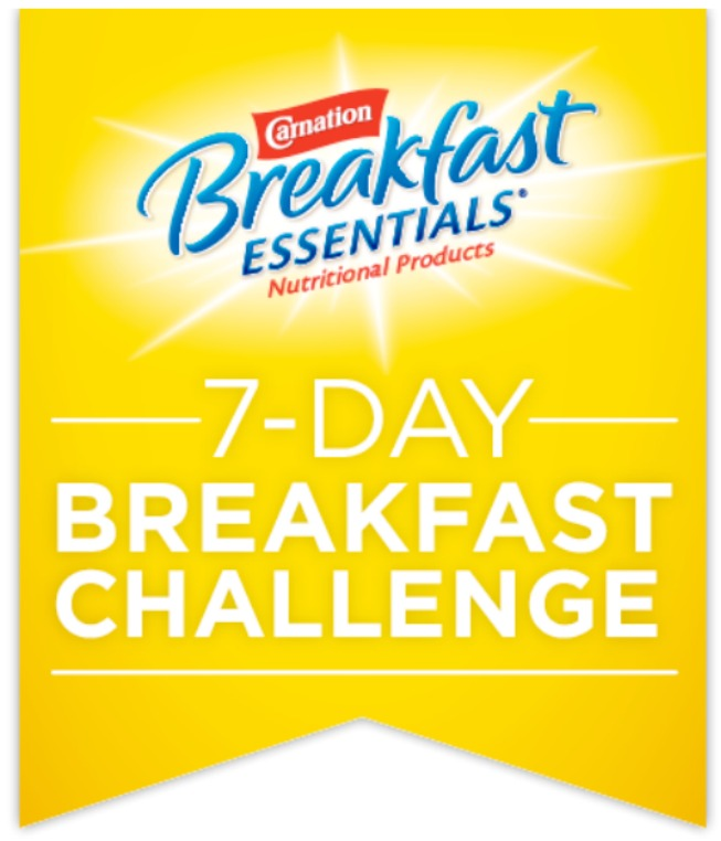 Be sure to enter the Carnation Breakfast Essentials® breakfast challenge