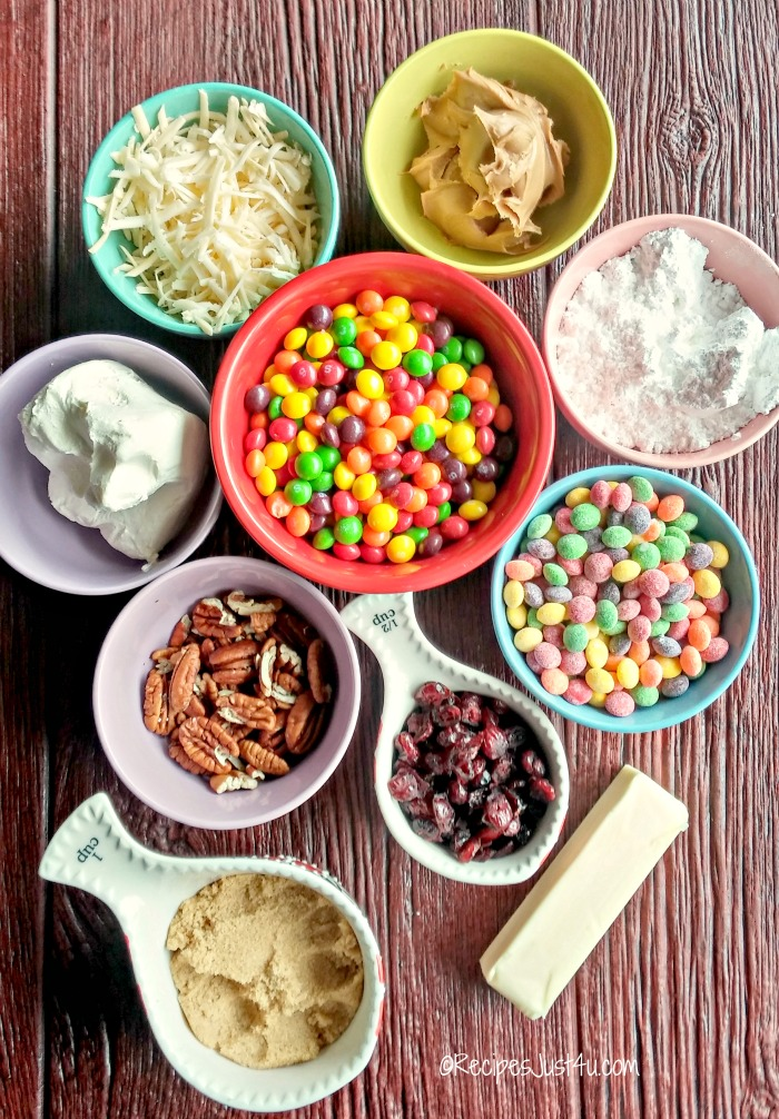 Ingredients for Skittles sweet and sour cheese balls