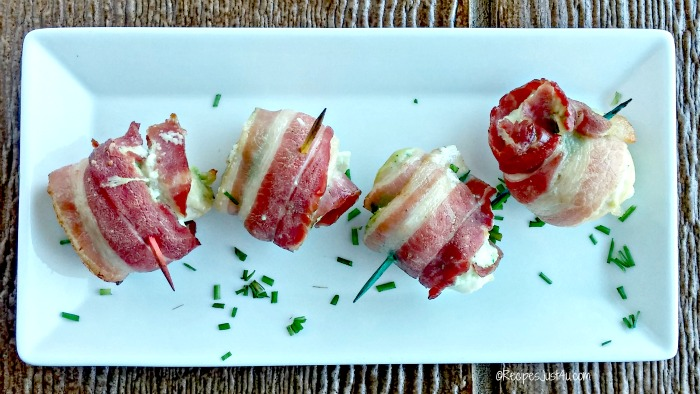 Bacon wrapped chicken appetizers
