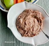 Healthy chocolate hazelnut dip