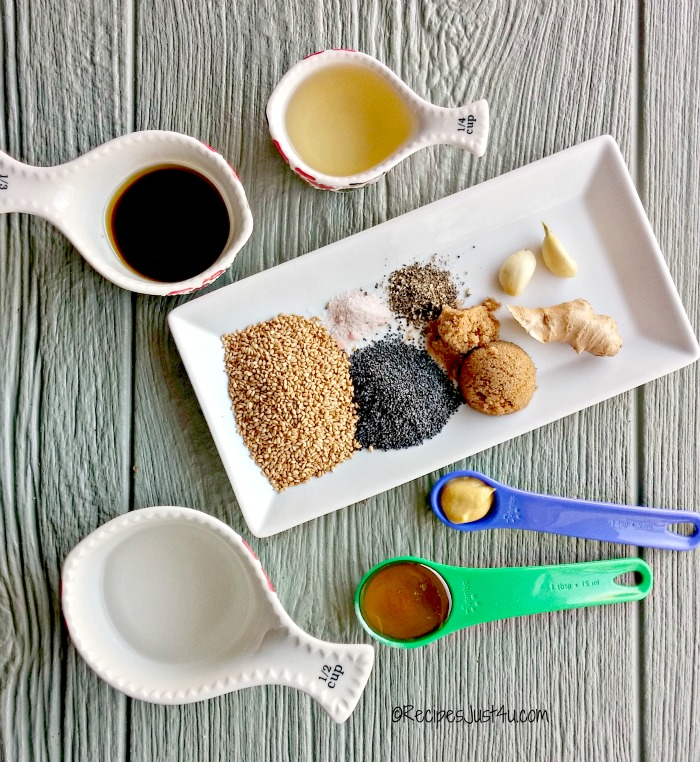Ingredients for Asian Sesame seed dressing