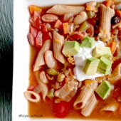 This slow cooker spicy minestrone soup is the perfect meal for a cold winter's night. recipesjust4u.com