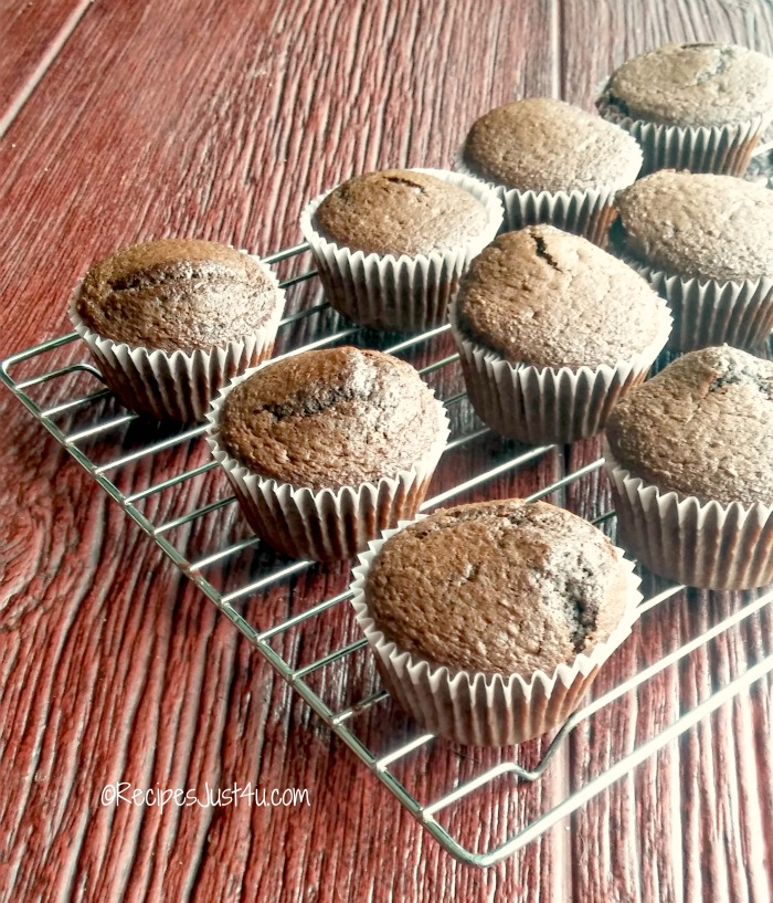 chocolate cupcakes ready to frost
