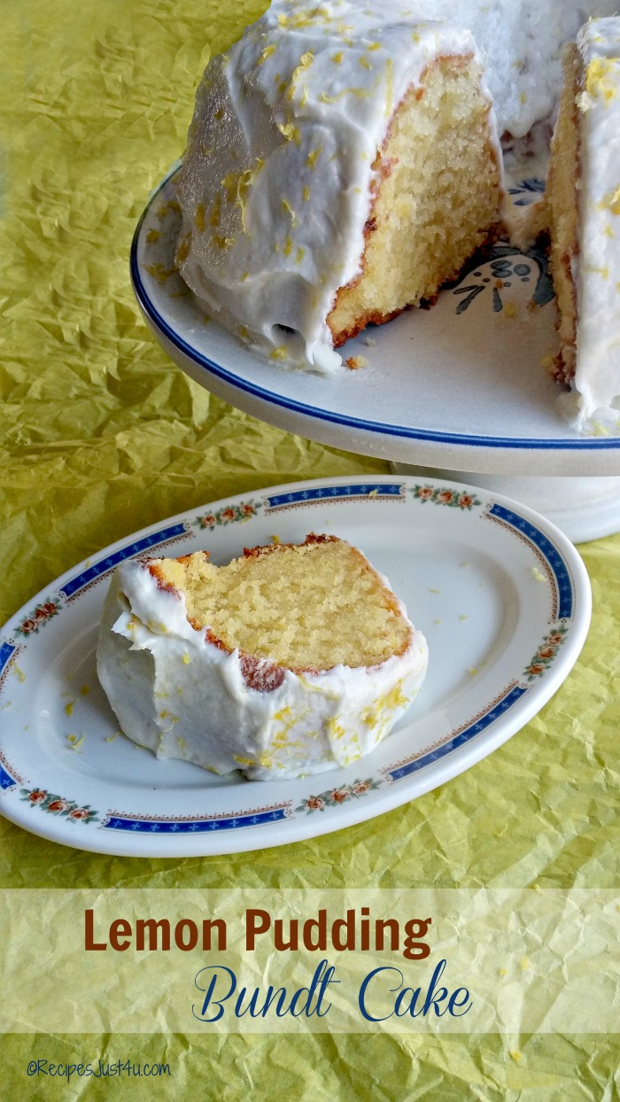 This Lemon pudding bundt cake was the hit of my husband's birthday party. It is rich, and moist and full of spring time freshness. recipesjust4u.com