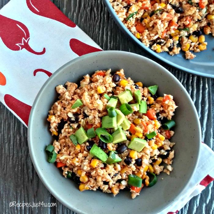 skinny cauliflower Mexican rice