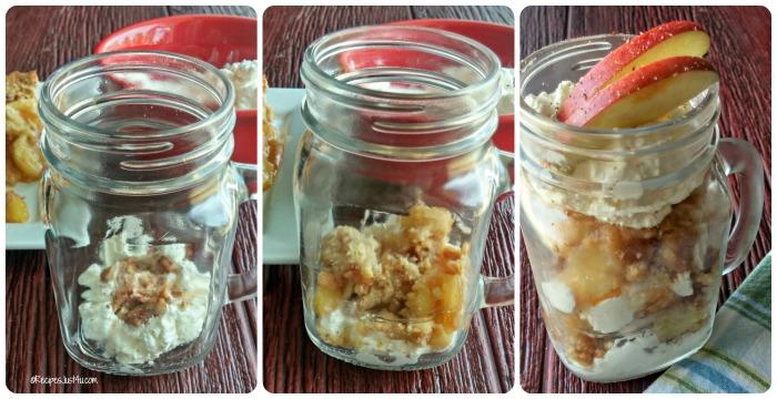 How to make Dutch Apple Crumble parfaits