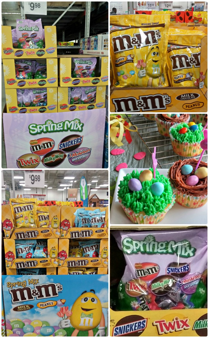 Mar's Candy collage of M&M's® Spring Minis Mix and M&M's® Pastel Peanuts
