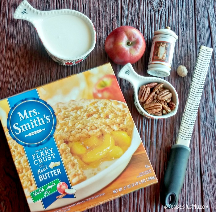 Ingredients for Dutch Apple crumble parfaits