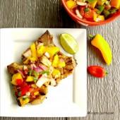 Grilled Pork with mango salsa