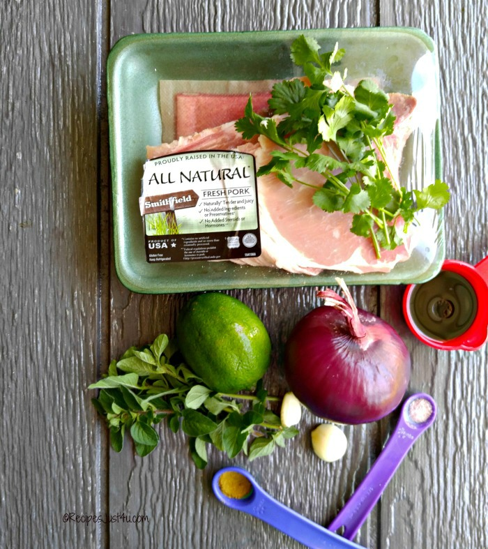 Ingredients for the Grilled Pork