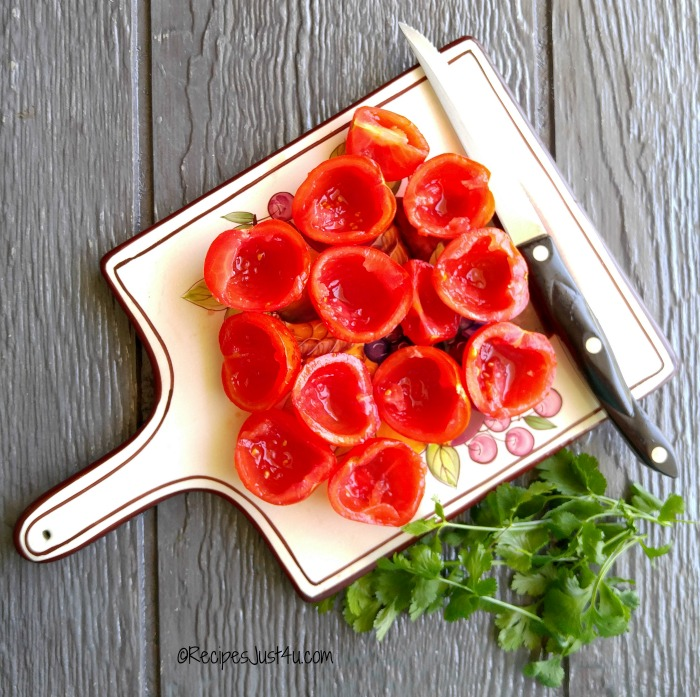 Seed your tomatoes for the salsa