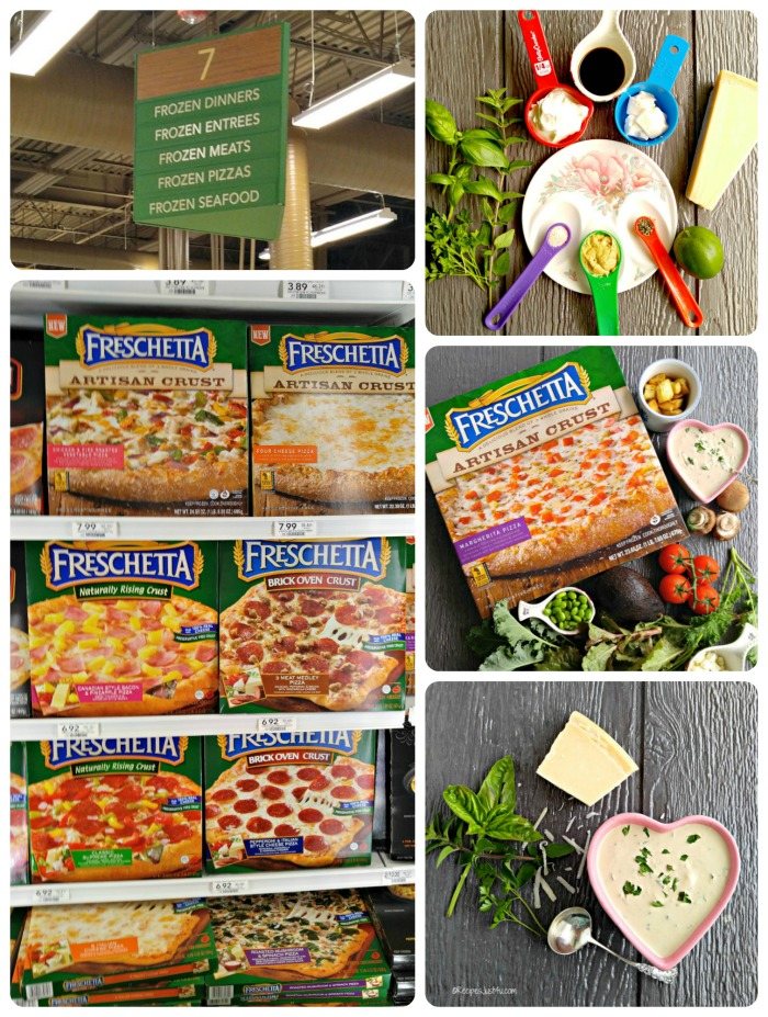 Freschetta artisan pizza collage