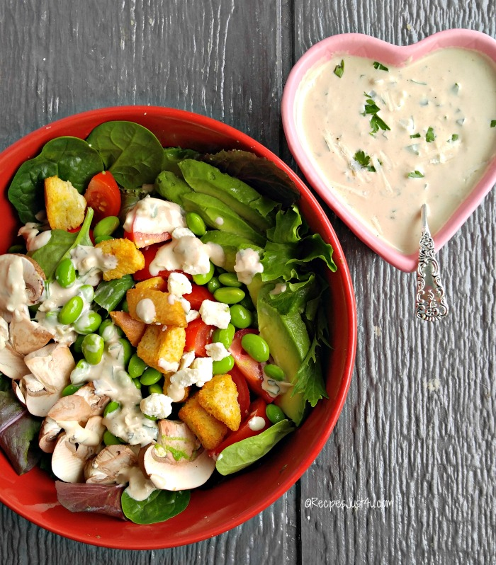 Salad and Parmesan Herb Dressing