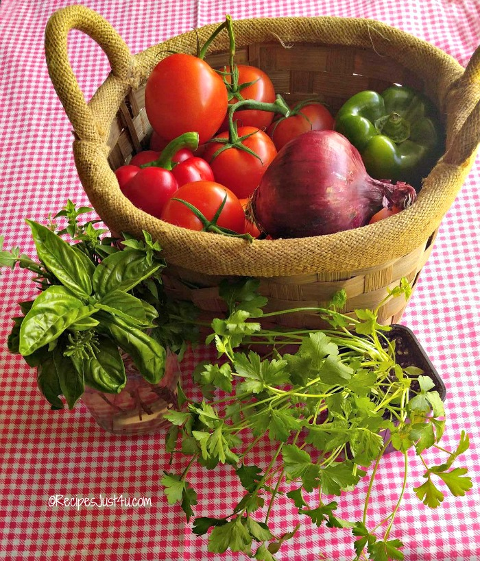 Farm fresh vegetables and herbs