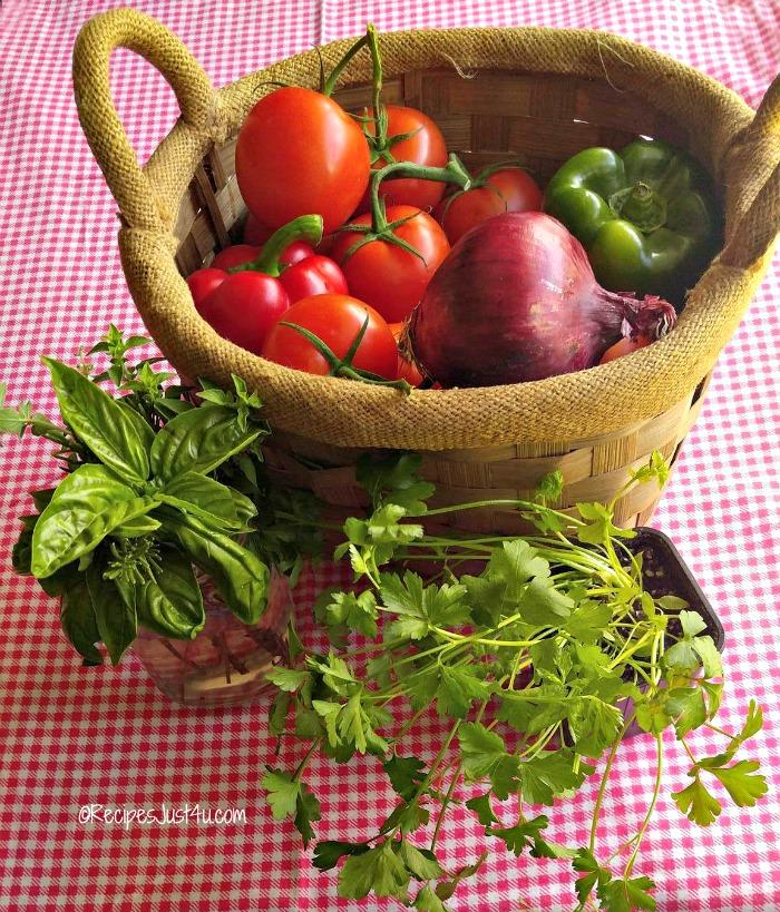 Farm fresh vegetables and herbs