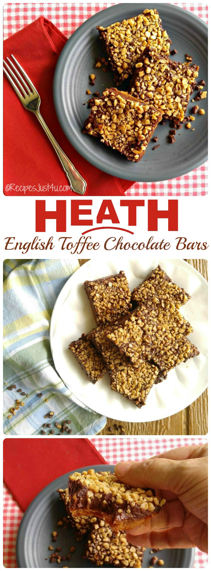 These Heath English toffee chocolate bars are so decadent. They make the perfect sweet treat. recipesjust4u.com