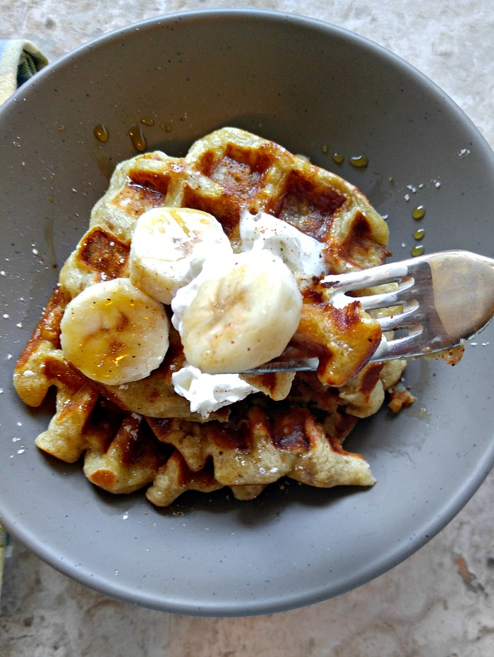 Taste of Banana Pumpkin Pie Spice Waffles