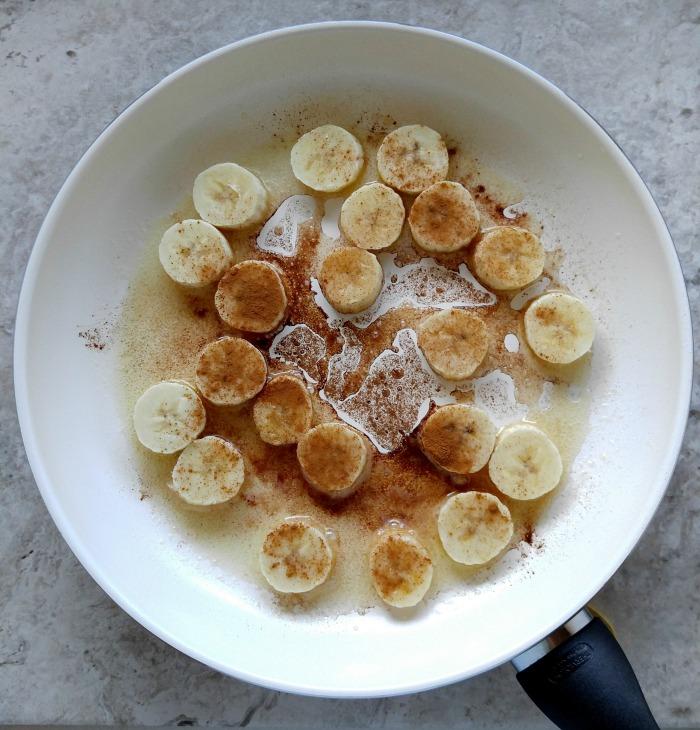 caramelize the bananas