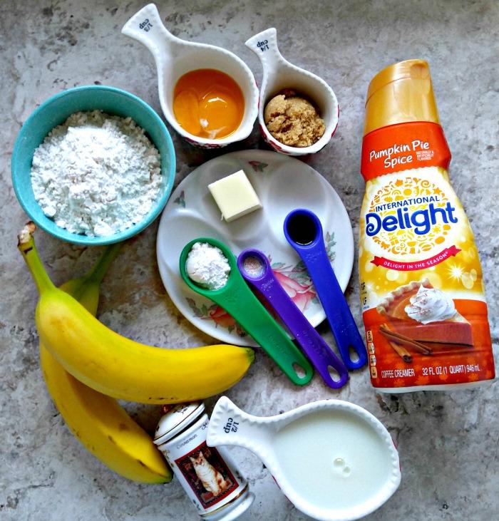 Ingredients for Banana Pumpkin Pie Spice Waffles