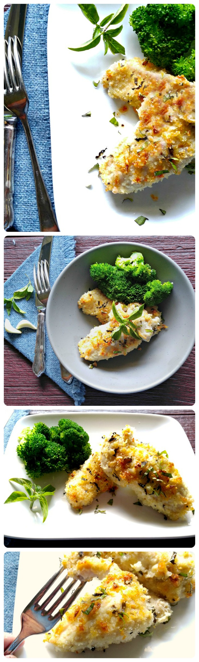 This Oven baked Parmesan chicken is lighter than the normal version but right up there in the taste department! recipesjust4u.com
