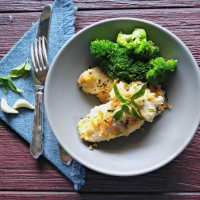 Oven baked Parmesan chicken