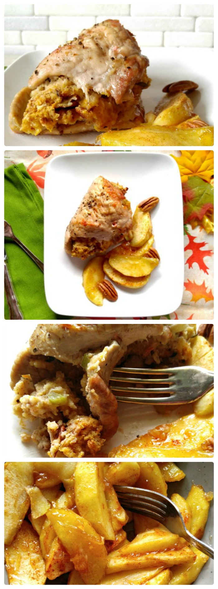 These Apple pecan stuffed pork chops welcome in fall in a super tasty way. Best of all, they are easy to make in about 30 minutes.
