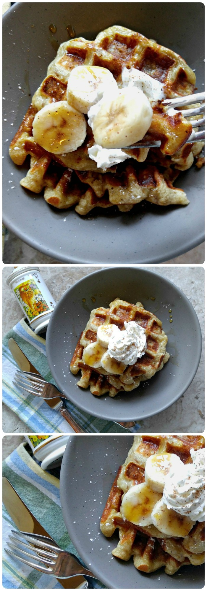 These banana pumpkin pie spice waffles are the perfect way to start your holiday morning. They are rich with just a hint of pumpkin. recipesjust4u.com