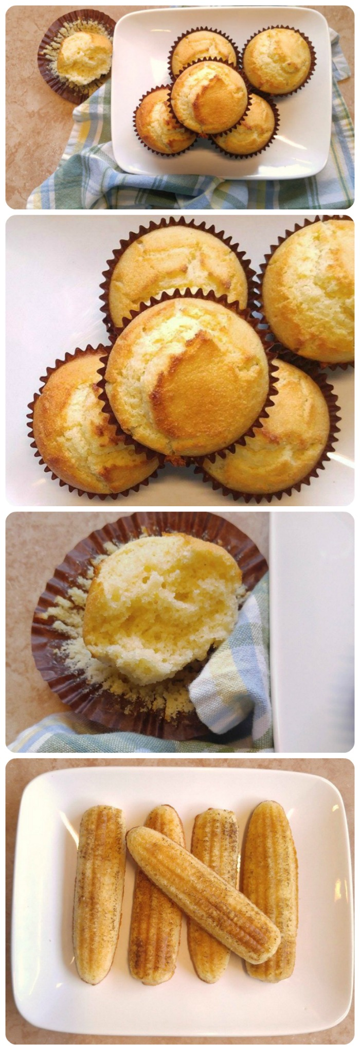 This recipe for buttermilk corn bread muffins gives a very light and fluffy muffin or corn bread stick.