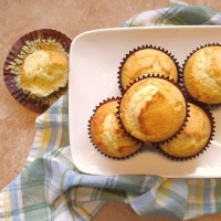 buttermilk corn bread muffin