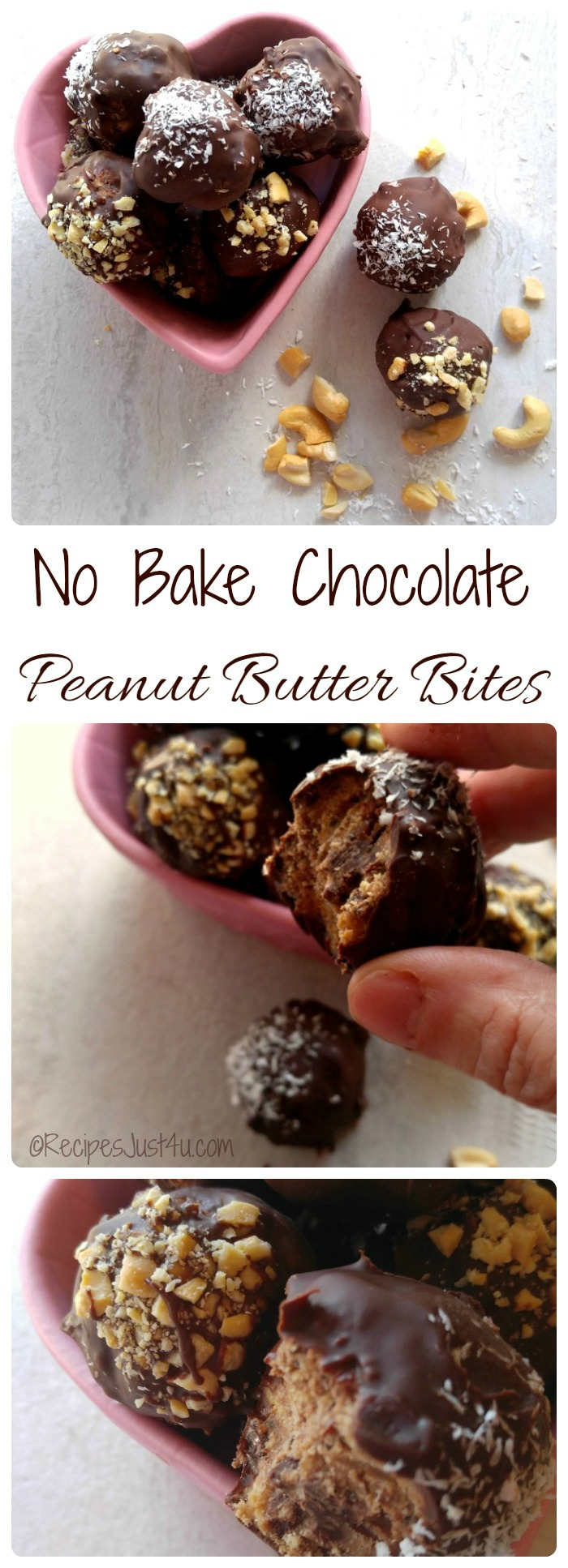 These No Bake Chocolate Peanut Butter Bites are a yummy treat that also packs a nutritious punch.