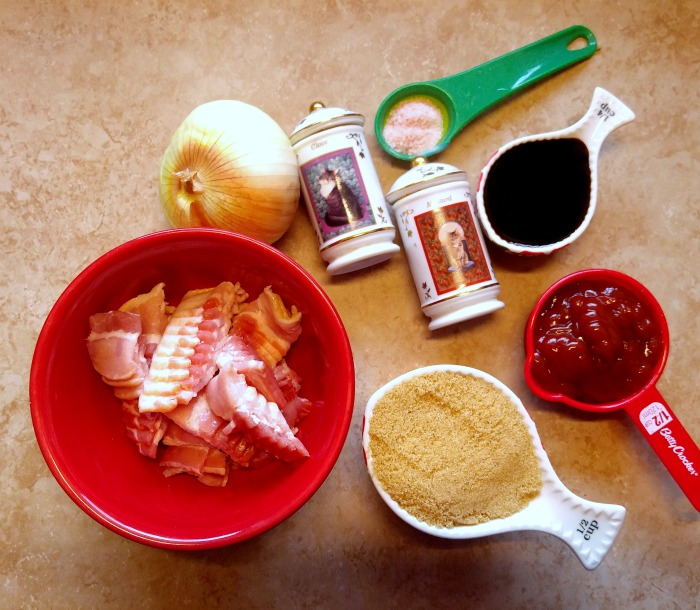 Ingredients for Slow Cooker Boston Baked Beans