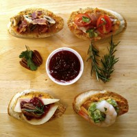 These four crostini appetizers will start your next party off with a bang. They are very easy to make and perfect to serve with cocktails. #InspireWithCheese #ad