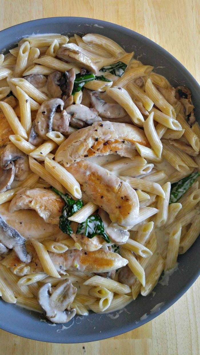 Msg 4 21+ This Garlic mushroom chicken is creamy cheesy and so easy to make. It's ready in 30 minutes but perfect for any special occasion too.