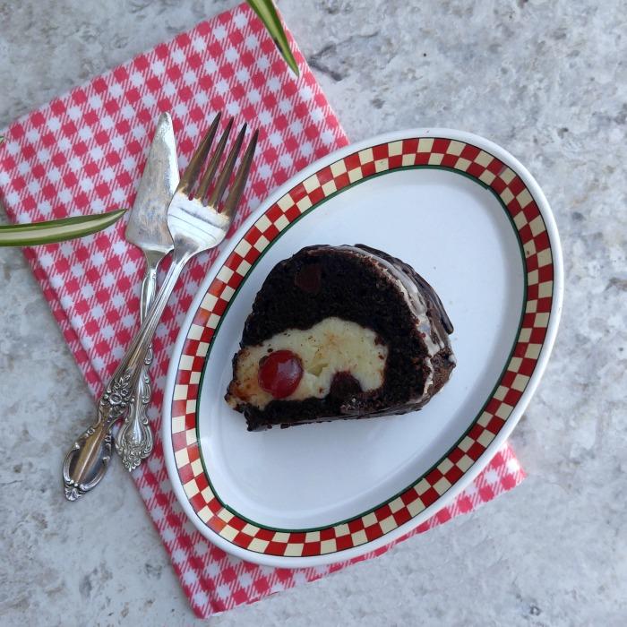 Chocolate Cherry Cheesecake Bundt Cake