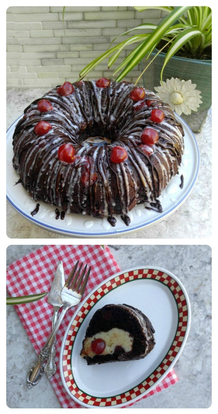 Cherry Chocolate Cheesecake Bundt cake