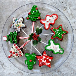 Holiday Shaped Brownie Pops