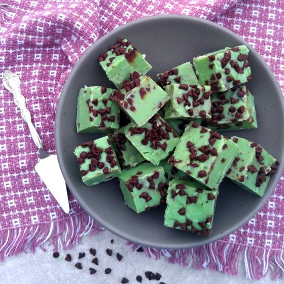 This mint chocolate chip fudge will be the hit of your party