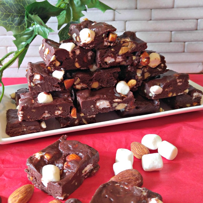 This rocky road fudge will be perfect for your holiday table.