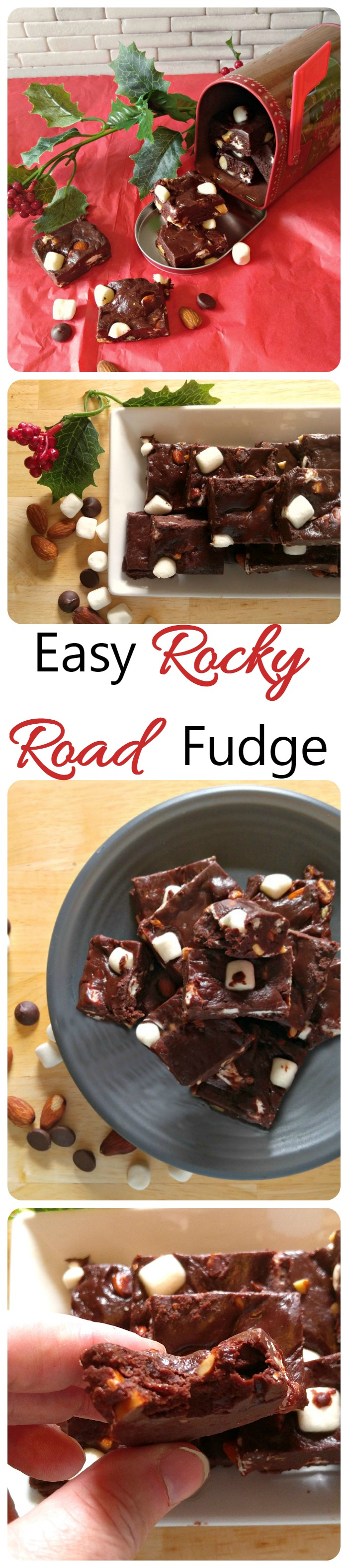 This rocky road fudge is quick and easy to make and, best of all, FOOLPROOF!  It comes together in minutes in the microwave.