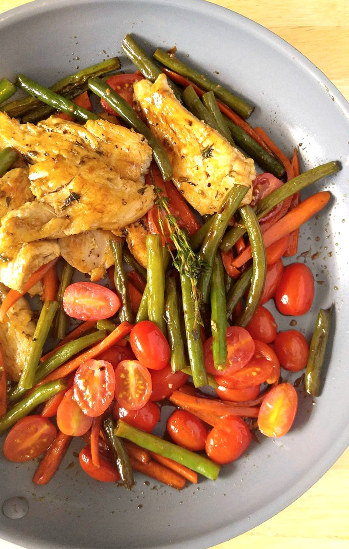One pot Balsamic Chicken with vegetables