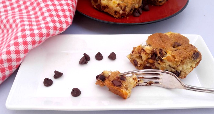 Take a bite of these Chocolate Chip Cheesecake Bars