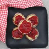 Mini cherry cheesecake cupcakes