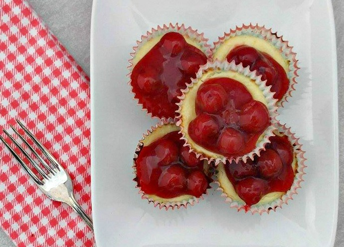 Mini Cherry Cheesecake Cupcake Recipe