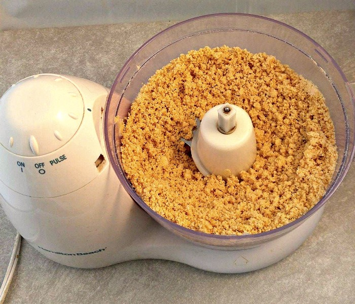Make the graham cracker crust in a food processor.