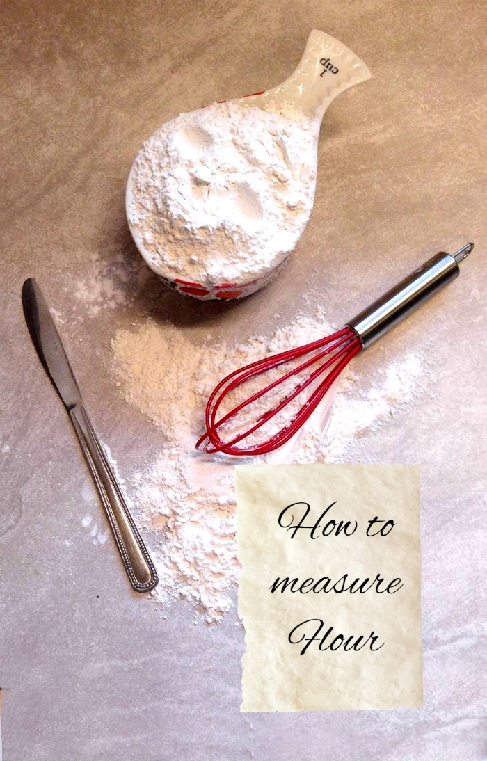 Knowing how to measure flour is an important part of baking.  Scooping it out of a canister and into a mixing bowl is a common mistake that beginners make. Find out how to measure flour correctly in my article.
