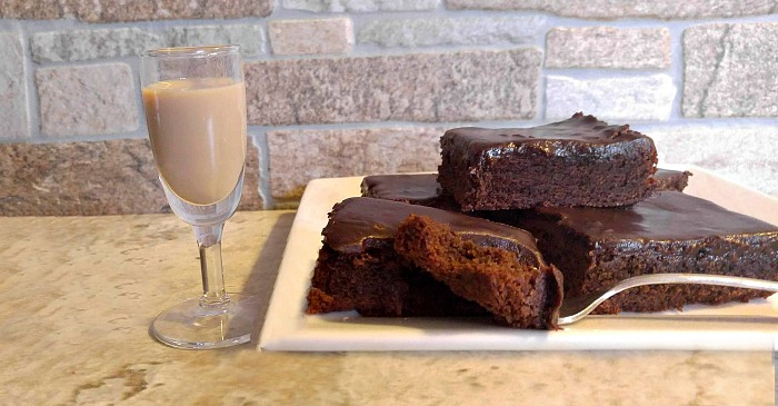 Take a bite of these Bailey's Irish Cream Brownie
