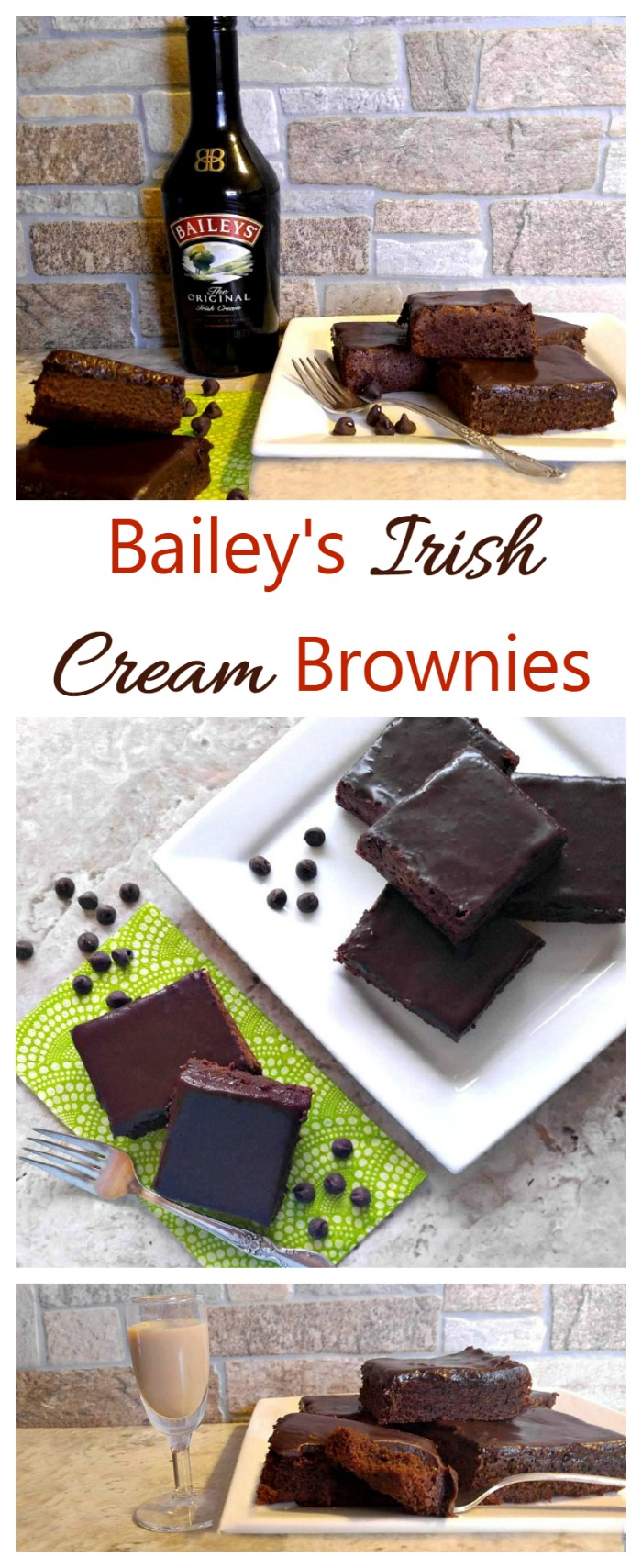 These Bailey's Irish Cream Brownie are rich, decadent and moist, with the most amazing ganache ever. Both the brownies and the ganache are flavored with Bailey's so this is a dessert for the grown ups.